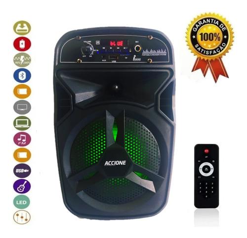 Caixa De Son Bluetooth Usb Fm Entrada Pendrive Microfone