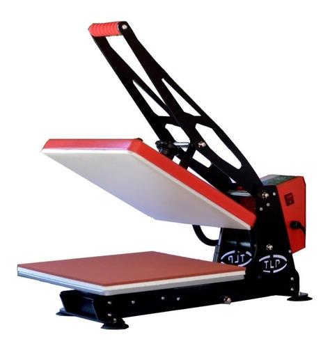 Plancha Sublimadora Manual Tlp 38x38  Control Digital Roja Y Negra 110v