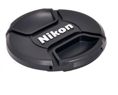 Tapa Lente 55mm Para Nikon Con Logo