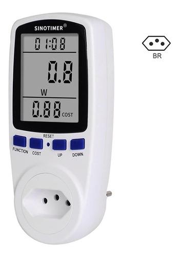 Wattímetro Digital Medidor De Consumo De Energia Plug Brasil