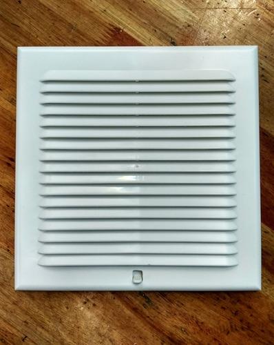 Rejilla Ventilacion En Pvc Con Cierre Y  Mosquitero 15x15 Cm