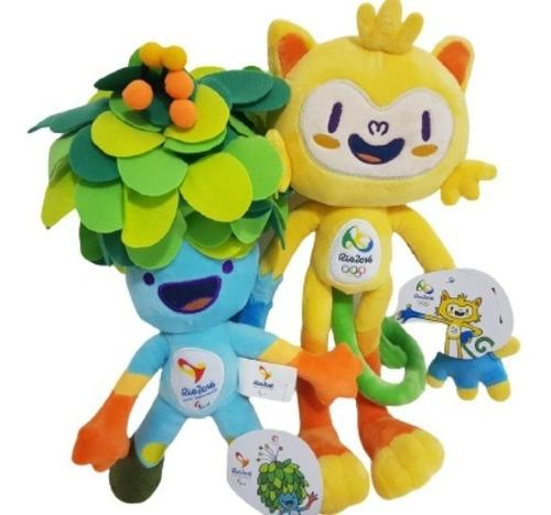Kit Mascote Tom E Vinicius Rio 2016 Olimpiadas Jogos 30 Cm