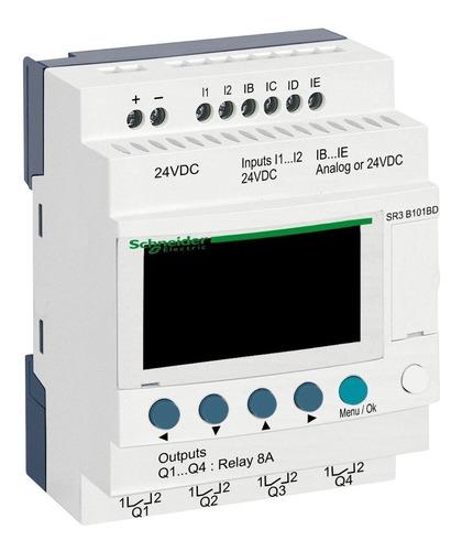 Plc Zelio Logic Ii 6e/4s 240vac ( Sr3b101fu) Schneider