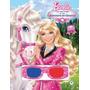 Livro Barbie Aventura De Cavalos Com Óculos 3d