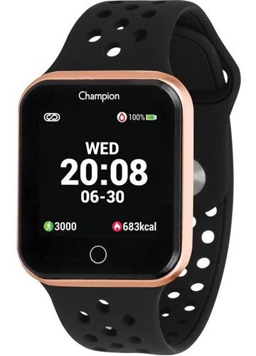 Relógio Champion Smartwatch Bluetooth 4.0 Rosé Preto