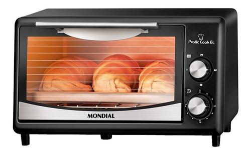 Forno De Bancada Elétrico Mondial Pratic Cook Fr-09 6l Preto/inox 127v