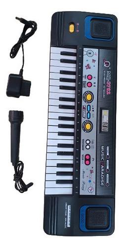 Piano Teclado C/ Microfone  A Pilha E Força P/ Criança