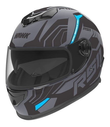 Casco Para Moto Integral Hawk Rs11 Revo Sophie Mate Talle M