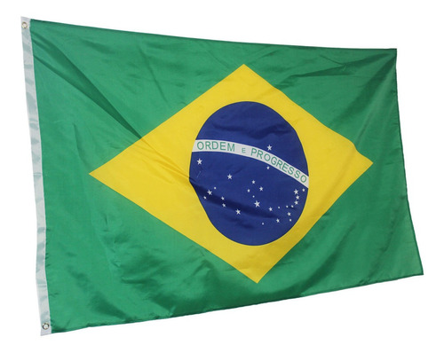 Bandeira Do Brasil Linda, Mastro E Parede, Dupla Face