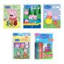 Kit 5 Livros Peppa Pig Atividades quebra Cabeça leitura