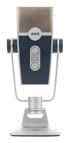 Micrófono Akg Lyra Condensador Multipatrón Plata