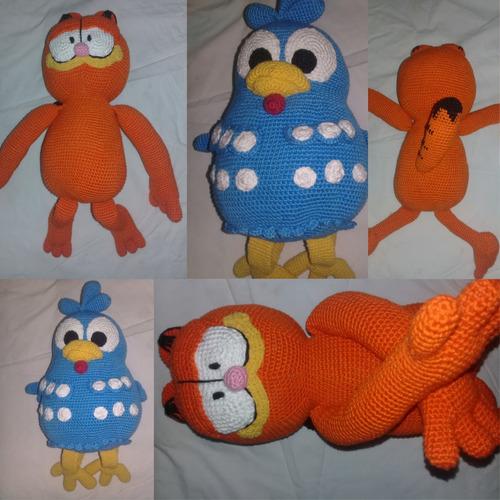 Amigurumi Personalizado Garfield E Galinha Pintadinha Lindos