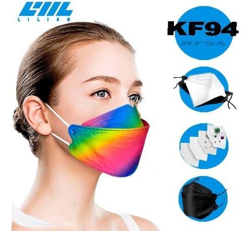 Kit 20 Máscaras Kn95/kf94 Proteção Respiratória/coreana/full