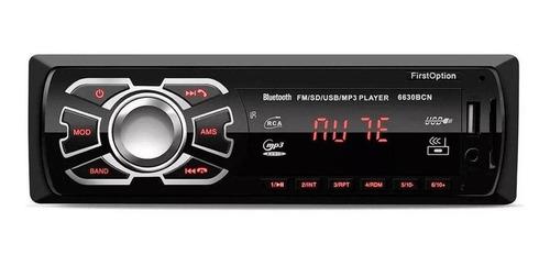 Som Automotivo First Option 6630bn Com Usb, Bluetooth E Leitor De Cartão Sd