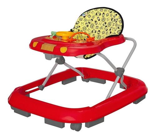 Andador Infantil Musical Para Bebê Vermelho - Tutti Baby