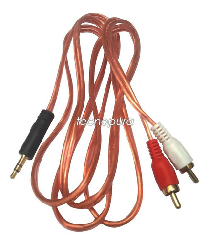 Cable 2x1 Audio - 2 Rca A Plug / Jack 3.5mm Sonido Estéreo
