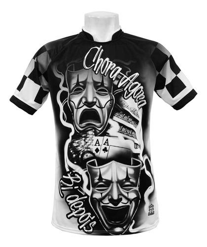 Camisa/camiseta Chora Agora Ri Depois Quadriculado