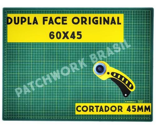 Kit Base De Corte 60x45 Azul Tiffany+cortador Circular 45mm