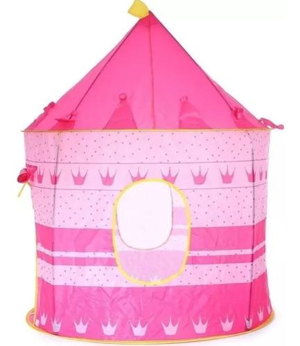 Carpa Castillo Princesa Infantil Color Rosado