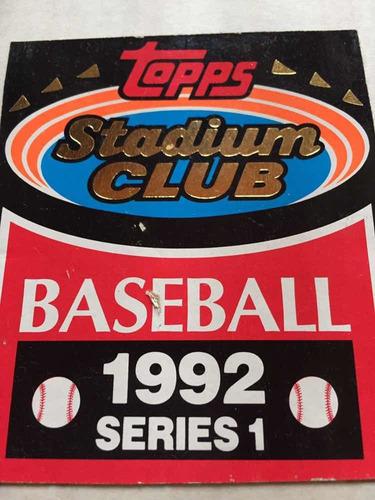Cartas , Tarjetas Baseball 1992 Colección Completa