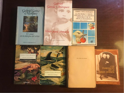 Lote De 7 Libros De Gabriel Garcia Marquez - Usados