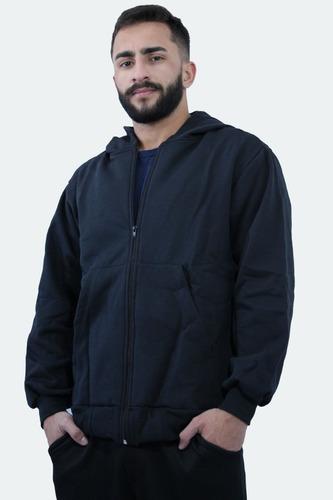 Blusa Frio Moletom Peluciado Masc Ziper + Capuz G4 G5 G6