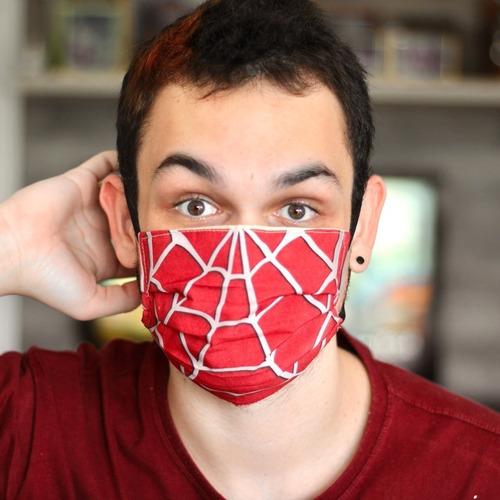 Máscara De Proteção Estampada Homem-aranha