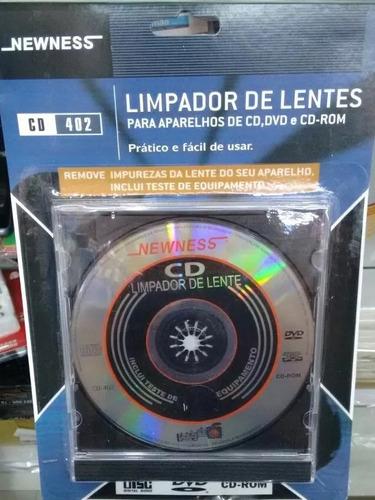 Limpador De Lentes Newness - Aparelho Cd / Dvd