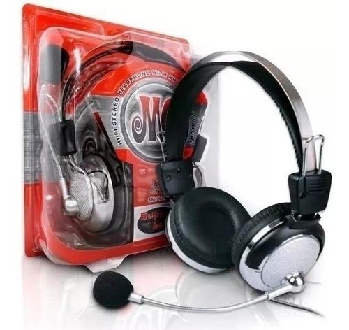 Fone De Ouvido Red Set Headphone Gamer Lan House Hl301mv