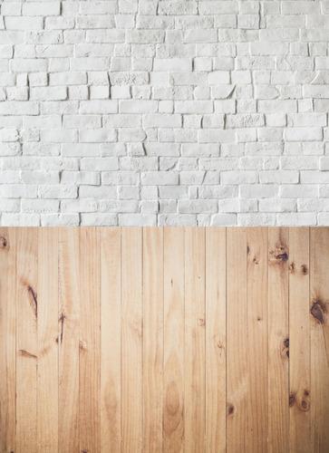 Painel Cenário Tijolos/madeira 1, 50x2, 20 (sendo 1, 10 Chão)