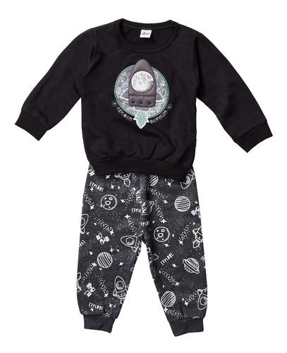 Conjunto Masculino Infantil Calça/blusão Elian´