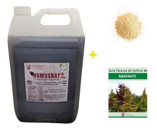 Humus Lixiviado De Lombriz Abono Liquido Orgánico 100% 8 L