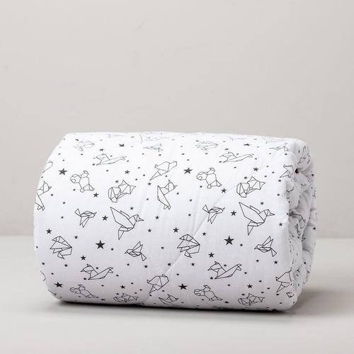 Acolchado Cuna Reversible Zoo Origami - Color Blanco