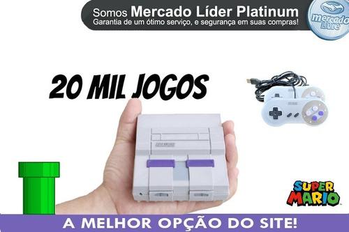 Super Nintendo 20 Mil Jogos Com 2 Controles Envio Full