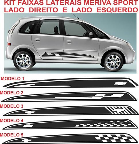 Faixa Lateral Meriva Sport Gm Chevrolet Adesivos Kit Original