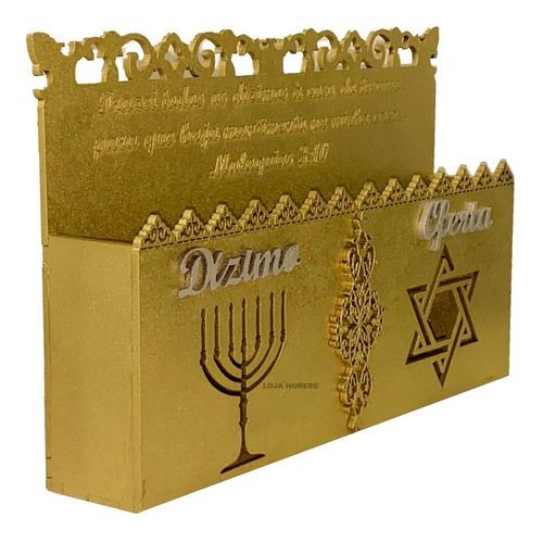 Porta Envelope Duplo Dourado Dízimos E Oferta Envio Na Hora!