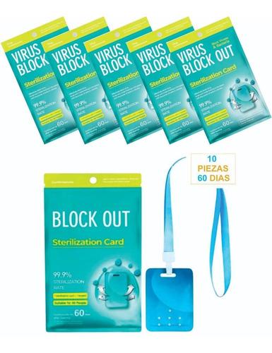 Tarjeta Sanitizante Virus Block 60 Días + Envio Gratis! 10pz