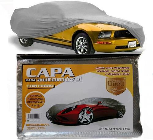 Capa Cobrir Carros Proteger Sol E Chuva Forrada 100% Imperm.