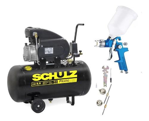 Compressor Ar Csi 8,5pés 50l 8,5/50 Schulz + Kit Pintura