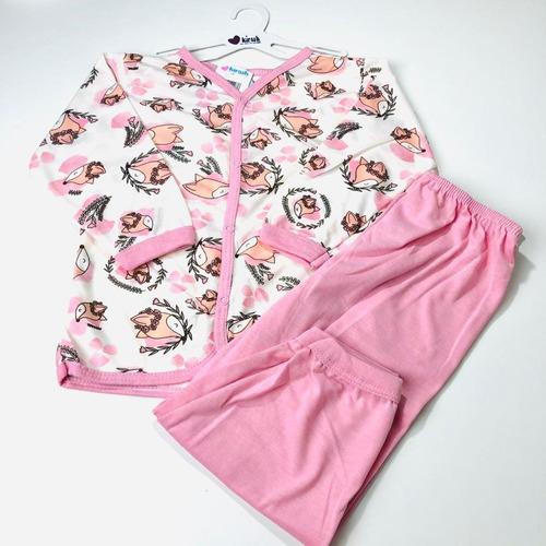 Pijama Kirash Casaco + Mijão Feminino Tam. 1 Ano Ao 3 Anos