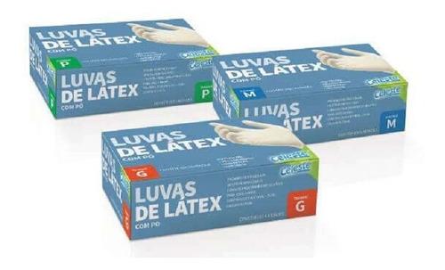 Luva Látex Descartável C/ Pó C/ 50 Und Clínica Dentista
