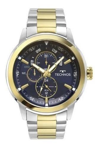 Relógio Technos Masculino Original Aço Inoxidável 6p57ae/1a