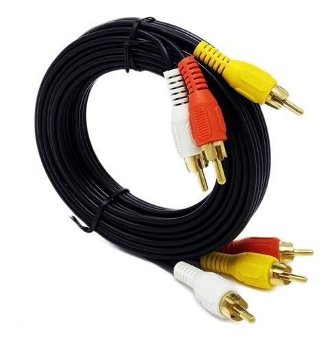 Cable Rca A Rca Punta Dorada - 10 Metros