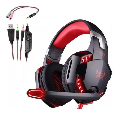 Headphones Gamer Kotion G2000 Red