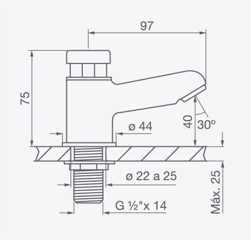 Fv 361 Pressmatic Canilla Automatica Para Lavatorio Cromo