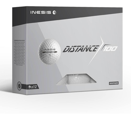 Bola De Golfe 100 Branco (conjunto De 12)