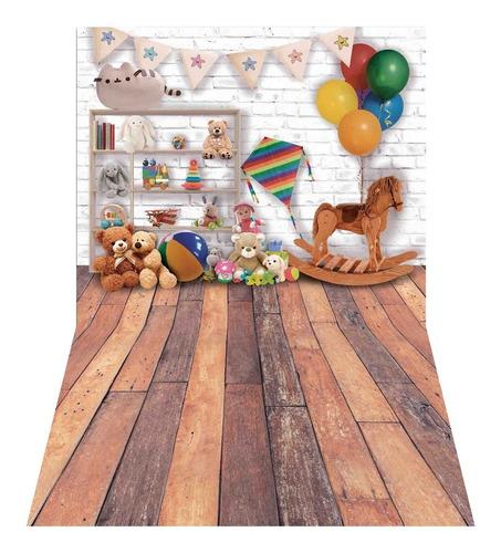 Fundo Fotográfico Brinquedos Dia Crianças Tecido 1, 75x1, 20