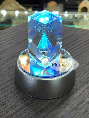 Pedra Cristal Lapidado Nossa Senhora Aparecida Led Enfeite