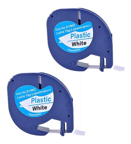 Kit 2 Fitas Plásticas 91201 Para Rotuladora Dymo Letratag