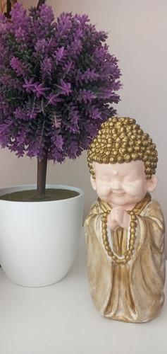 Bebé Buda Rezando En Yeso 16 Cm